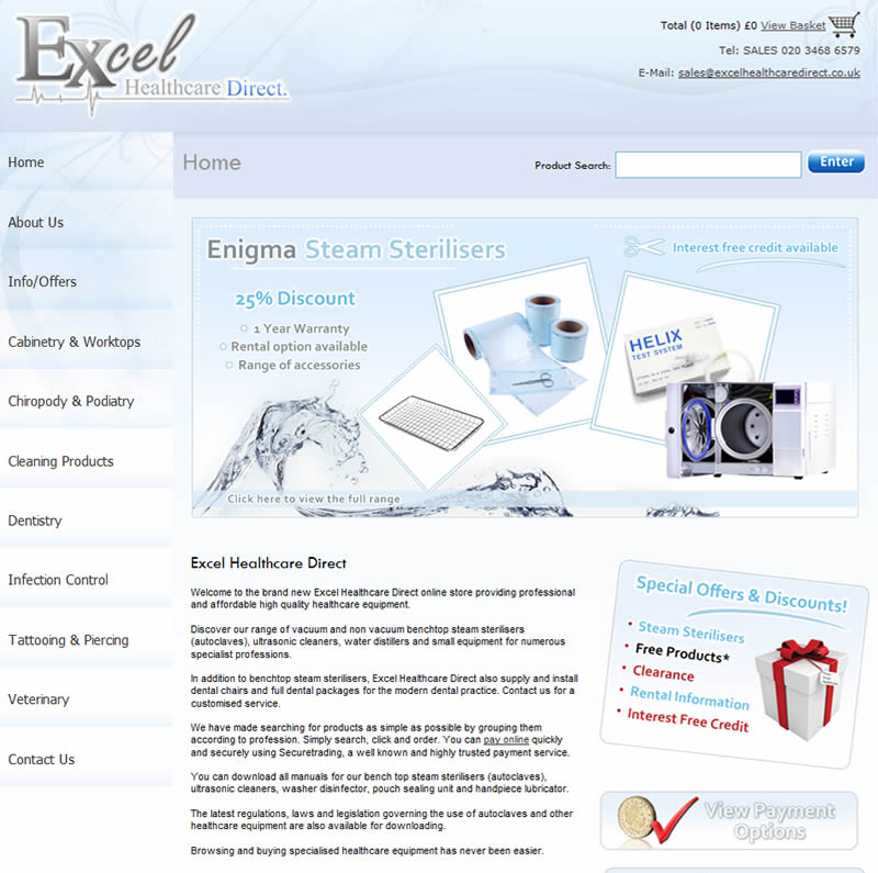 Chelmsford Essex Web Design - Excel Healthcare Direct