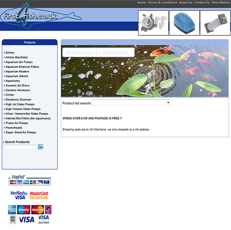 Chelmsford Essex Web Design - First4fish